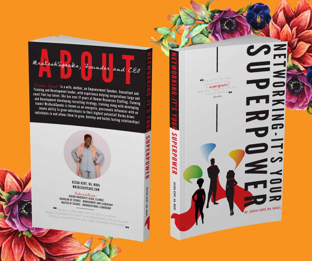 Front and back of my book, Networking — It's Your Superpower